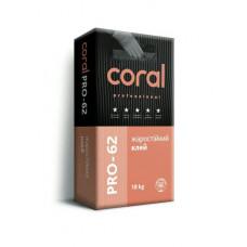 Клей для каминов Coral CT62  18кг ОБЛИЦОВКА