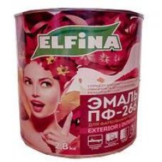 половая 2.8л красно-коричневая ELFINA краска